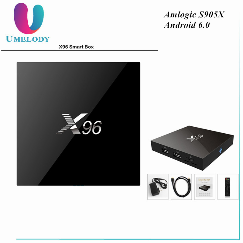 Umelody X96 Tv X96 Android 6.0 Amlogic S905X Android Tv Box 3Gb Ram Quad Core Mx2 Android Tv Box