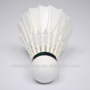Export Korea Professional Shuttlecock/Best Durability/best flying/Grade 1 Water duck feather shuttlecock for Tournament