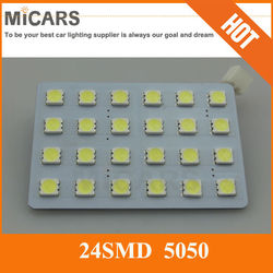 China manufacturer pcb 24 smd 5050 auto led dome light