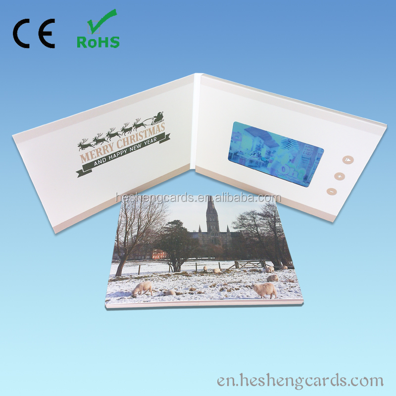 4.3 inch lcd video greeting card as christmas gift,bulk christmas gifts
