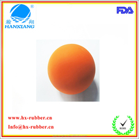 OD 62mm silicone solid bouncing rubber ball for dog toys