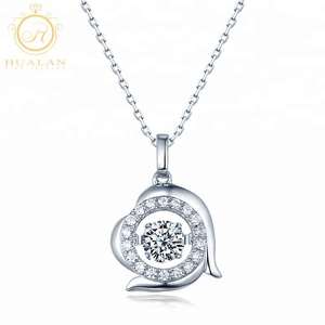 New Arrival 925 Sterling Silver Pendant Dancing Stone Jewelry Twelve Zodiac Signs Capricorn Globe Necklace