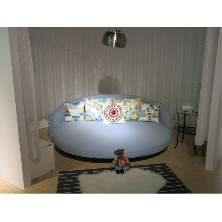 Comfortable round sofa bed with colorful cushion bright color living room furniture