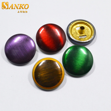 Colored brushed custom metal decorative snap button cover