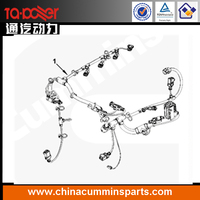 High quality diesel engine parts low price ecu wire harness cums 3969631