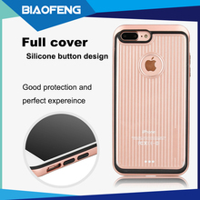 Latest fashion accessory clear metallic bumper hybrid case with shatter-resistance layer for iphone 7 stylish mobile cover