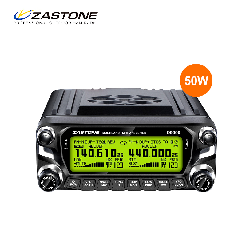 2017 new ZASTONE D9000 airband shortwave fm receive 50w dual band mobile radio cheap