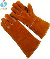 high quality leather welding gloves reinforced hawk gloves