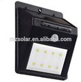 solar sensor wall light outdoor wall mounted led light triangle
