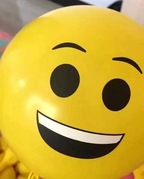 Lovely smily face round party balloon