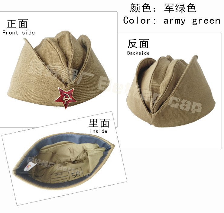 russian military hat wholesale made in china guangzhou factory