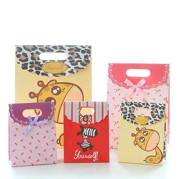 Advertisement logo printed children packing gift bag rectangle paper bags