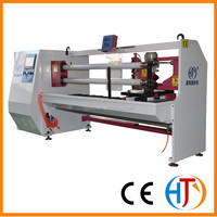 HJY-QJ02 advanced precision surface duplex auto cigarette paper roll slitting machine