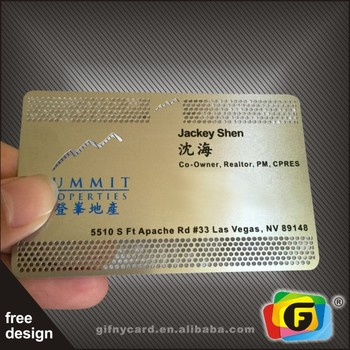 High Quality Cheap Metal Business Card