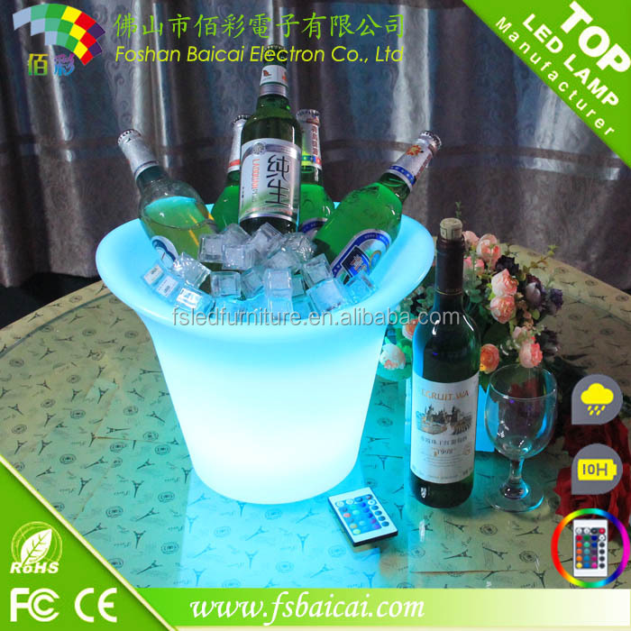 Portable led ice bucket/led light bucket for beer