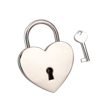Silver Heart shaped Love Padlock - Top quality (Lovelock, Gift, Liebesschloss, love lock, wishlock, cadenas d'amour)