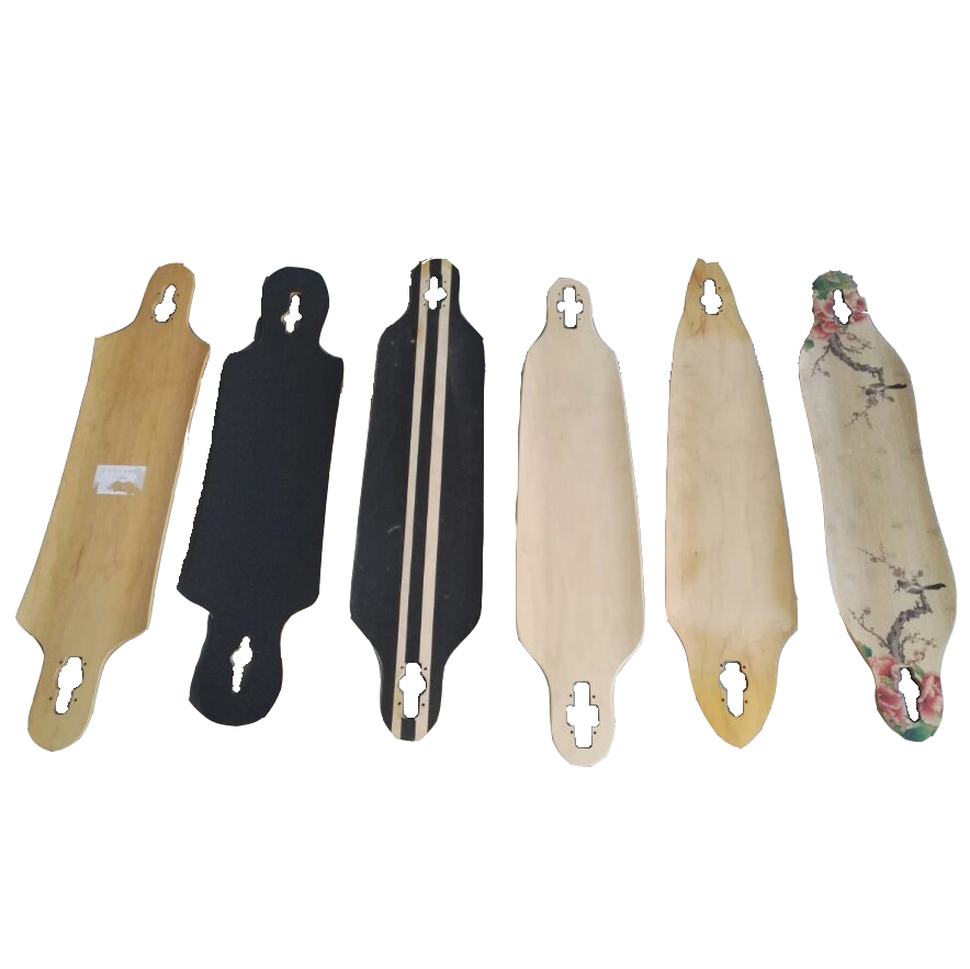 kinds of maple longboard deck free style longboard deck