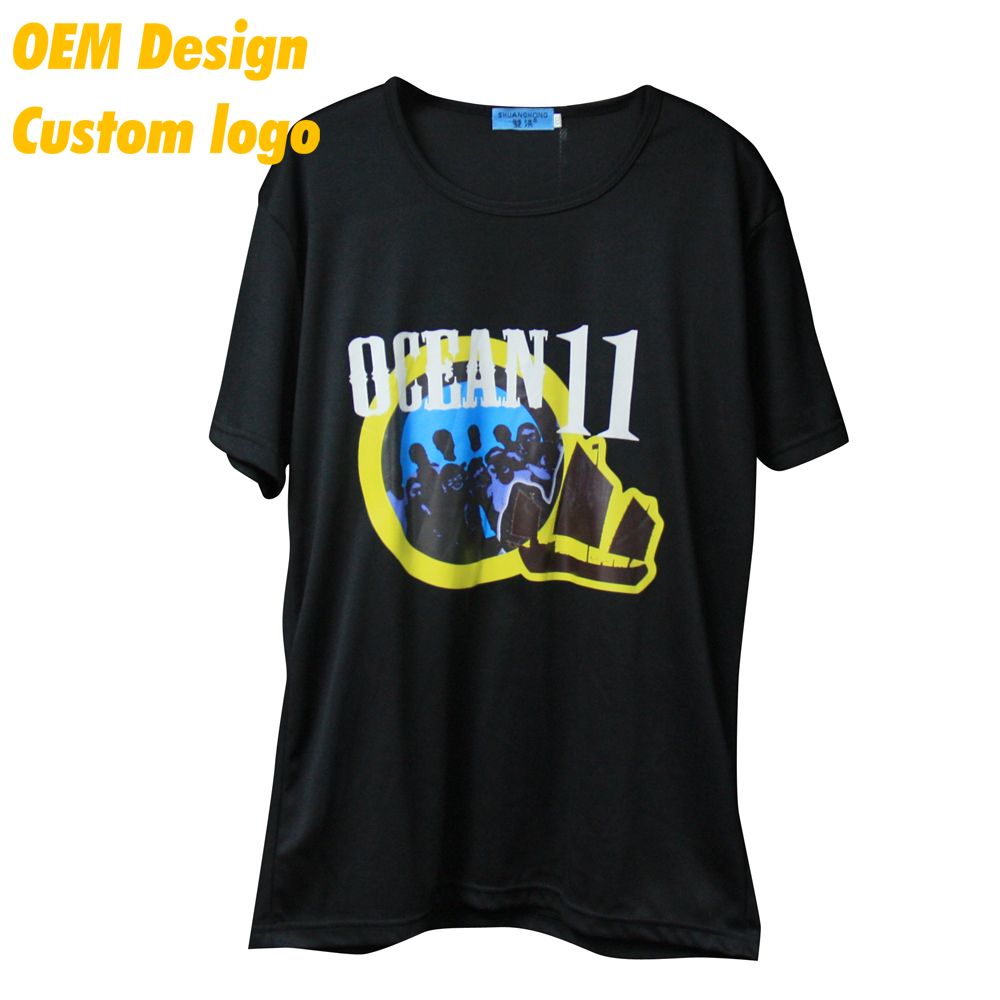 Direct Sale Swag Single Jersey Heat press AU size 200gsm Black Round Neck Male T- shirt for campaign
