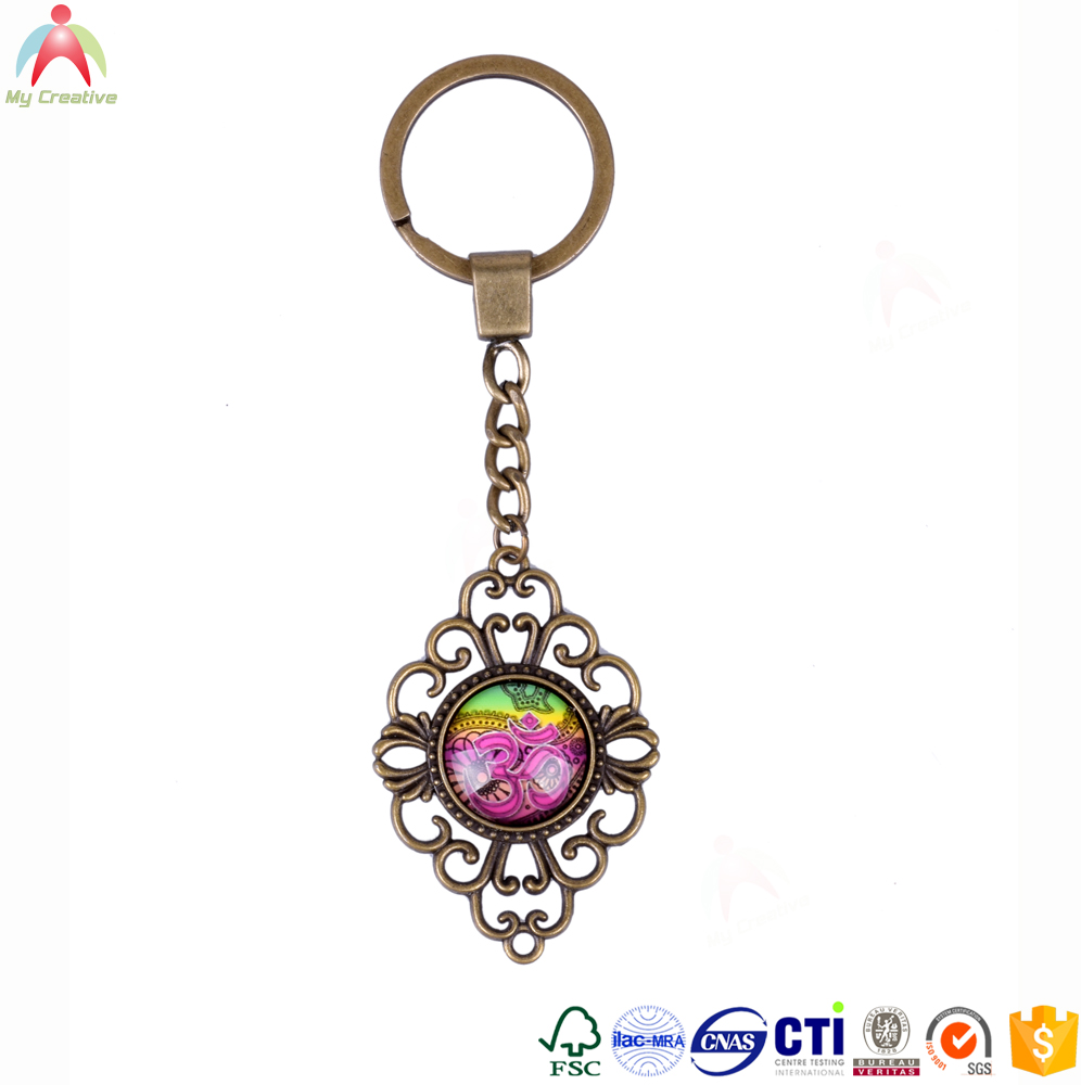 Zhejiang yiwu ying cheng Factory Cheap wholesale custom metal craft keychain