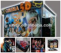 Mobile 5D 7D cinema including the outside cabin/box