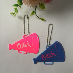 Printing Reflector Keychain,soft pvc clothes reflective keychain,Pvc Safety Reflector Key Ring