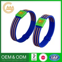cute rubber silicone power energy bracelet