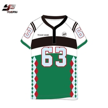 100% polyester Respirant 2017 design personnalisé allemagne rugby jersey