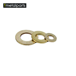 China processing customized o ring brass washer copper flat spring gasket CNC lathe parts