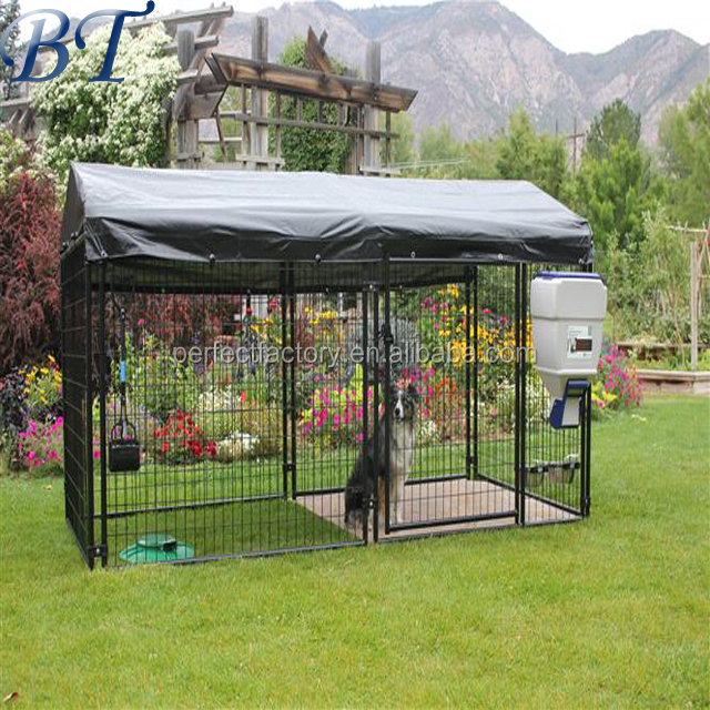 Welded wire mesh dog run fence/hot dipped galvanized dog kennel/cheap outdoor dog cage for sale