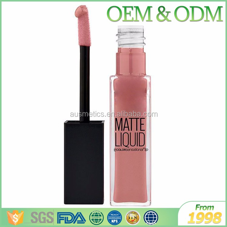 Hot selling make your own private label fashion color cosmetic matte liquid lipstick