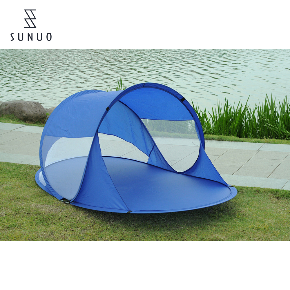 Promotional Automatic Spring Steel Wire Pop Up Mesh Tent