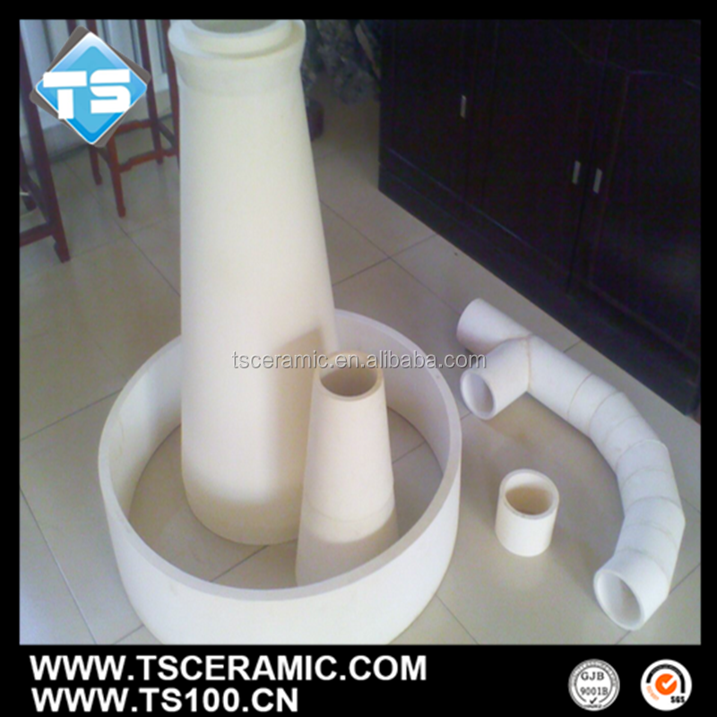 alumina ceramic tapered tube for wear resistant lining