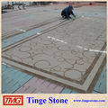Water jet square design decoration
