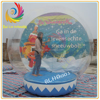 large outdoor inflatable snow globe for events