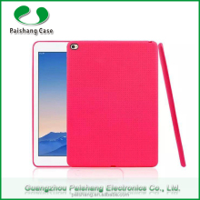 Wholesale soft TPU Honeycomb pattern finish 7 colors Anti-throw durable back case cover for Apple iPad air 2