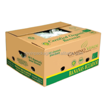 Custom Printed Fruit Cardboard Banana Packaging Cartons Boxes