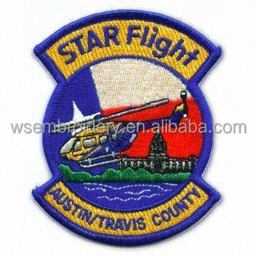 Customed Helicopter Embroidery Badge Sew-on Garment Accessories