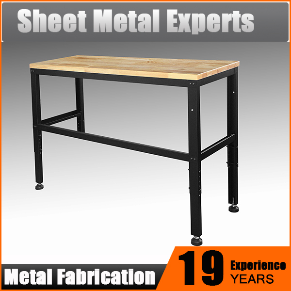 Heavy duty 60inch steel work bench with wood top