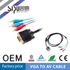 SIPU Factory price vga to 3rca cable vga to av converter cable rca cable to vga converter
