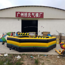 Inflatable wipeout, eliminator mechanical rodeo game riding machine, inflatable mechanical rodeo bull eliminator