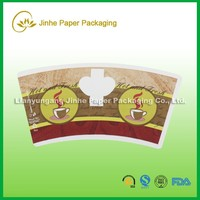wood pulp raw material paper cup fan coated pe