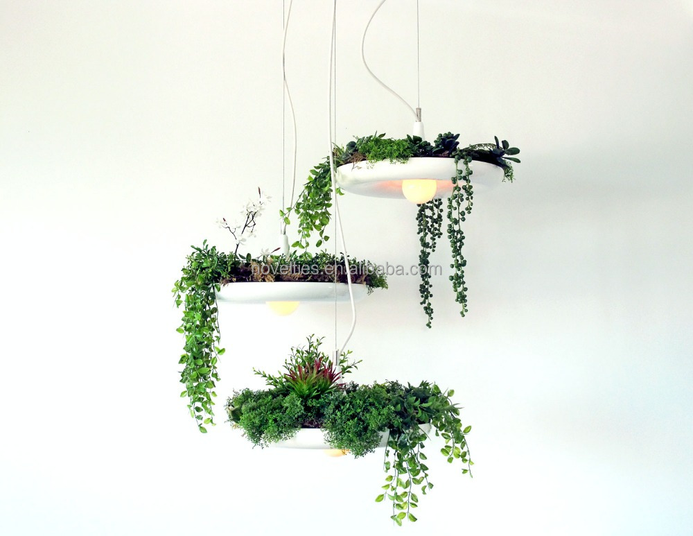 New design green plant decoration pendant suspend light with home