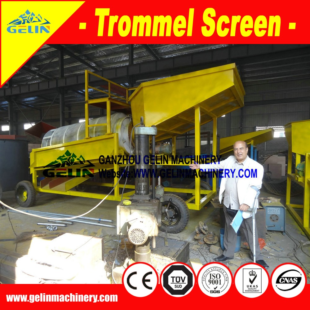 Benefication rotary screening trommel