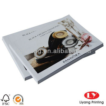 Custom fancy printing service catalogue of jewelry case printing