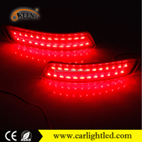 New LED Car 2014 Toyota Corolla Led Rear Bumper Reflector Light running with turn singnal brake warning red lamp