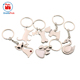 hot sale zinc alloy metal silver animal key chain