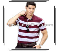 Summer mens yarn dyed polo t-shirts manufacturer from china garment company