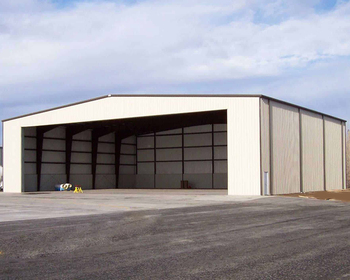 Large Span Prefabricated Steel Structure Plane Warehouse Hangar