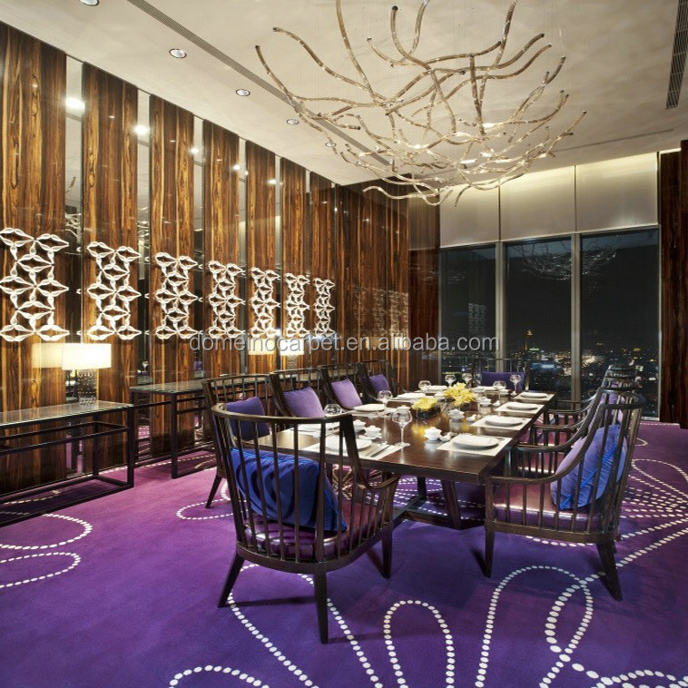 Commercial purple carpet Hand tufted wall to wall carpets Domeino Carpet