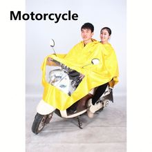 Universal motorcycle rain coat, plastic raincoat